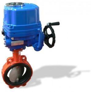 620B, DN80 + EQ mezipřírubová klapka s elektropohonem