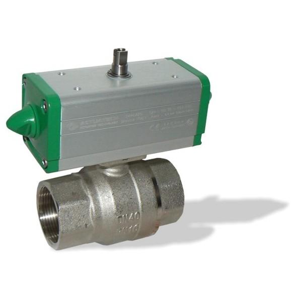 S1021 Rp1 1/2 + GD kulový kohout s pneupohonem dvojčinným