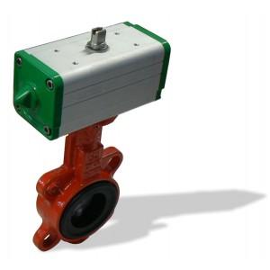 620B, DN150 + GD mezipřírubová klapka s pneupohonem dvojčinným