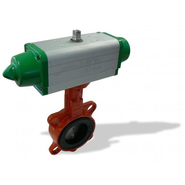 620B, DN80 + GS mezipřírubová klapka s pneupohonem jednočinným