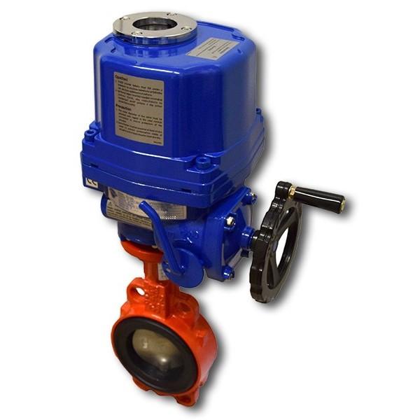 620B, DN65 + EQ mezipřírubová klapka s elektropohonem