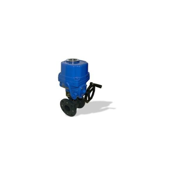 507 DN150 + EQ kulový kohout přírubový s elektropohonem
