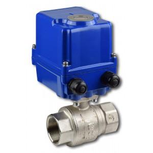 """S1021, Rp 1""""1/4 + EQM06 kulový kohout závitový s elektropohonem"""