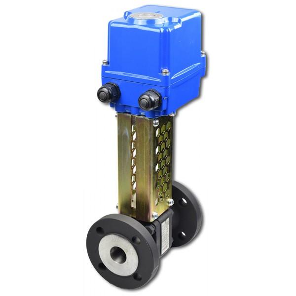 ART41205.3 DN40 + EQM kulový kohout pro páru s elektropohonem