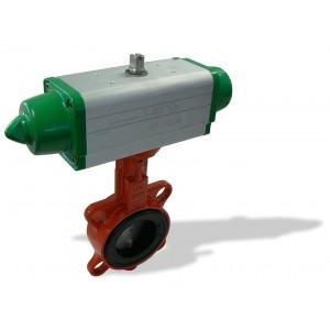 620B, DN32 + GS mezipřírubová klapka s pneupohonem jednočinným