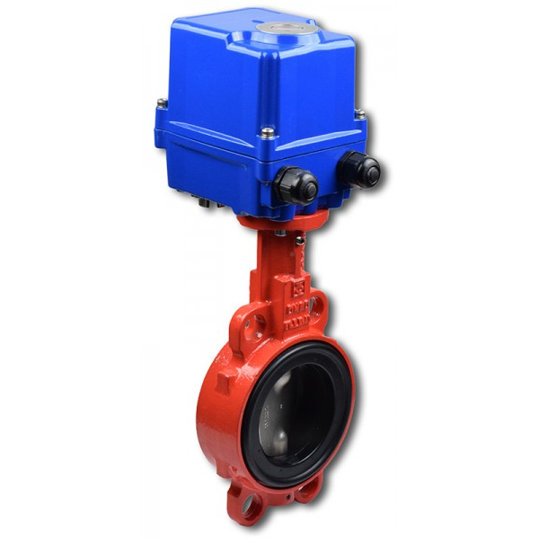 620B, DN50 + EQM mezipřírubová klapka s elektropohonem